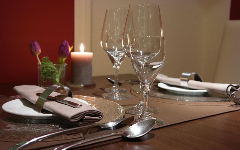 Essen im Restaurant in Bad Arolsen
